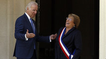 Joe Biden, Michelle Bachelet