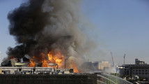 5-alarm fire burns in San Francisco