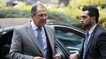 Russia's Foreign Minister Lavrov arrives to attend a EU foreign ministers meeting in Brussels