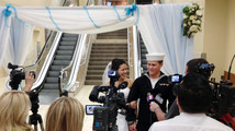 Navy sailor, fiancee marry at Nevada airport
