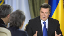 Ukraine's President Viktor Yanukovich meets with journalists in Kiev