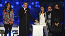 U.S. President Obama and the First Family participate in the National Christmas Tree Lighting ceremony in Washington