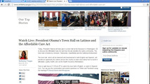 Keystone XL ad visible on White House website