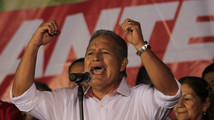 Ex-guerrilla favorite to win El Salvador's presidential election