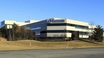 The main entrance to Micron corporate headquarters in Boise, Idaho