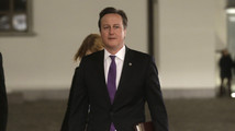 Britain's Prime Minister David Cameron arrives for the EU Eastern Partnership summit in Vilnius