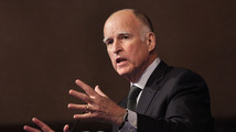 Governor Brown of California speaks at the Center for American Progress 10th Anniversary policy forum in Washington