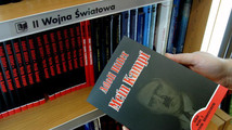 A customer holds a Polish copy of Adolf Hitlers Mein Kampf at a book store in Wroclaw.