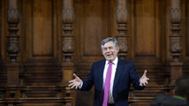 Ex-British PM Brown favors more powers for Scotland, not independence