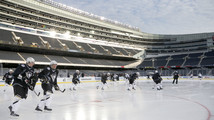 Pens, Blackhawks prepare for Soldier Field game