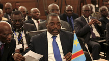 Democratic Republic of Congo's President Joseph Kabila attends a two-day meeting of SADC leaders in Pretoria