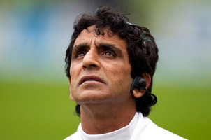 Umpire Asad Rauf during the first Test match between New Zealand and England in Dunedin, New Zealand on March 6, 2013