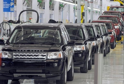 Land Rover Freelander II SUV vehicles are seen on the assembly line