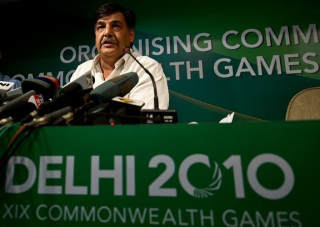 Lalit Bhanot addresses media in New Delhi in 2010 amid claims of corruption and mismanagement at that year's Commonwealth Games.