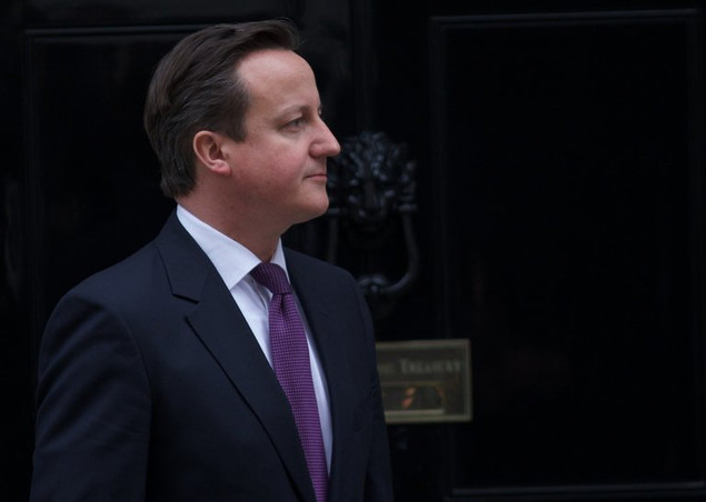 British Prime Minister David Cameron at 10 Downing Street in London on February 12, 2013