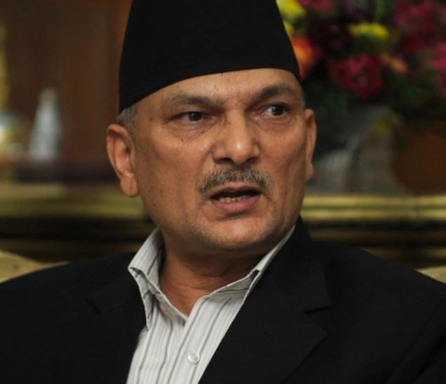 Nepalese Prime Minister Baburam Bhattarai answers questions during a press conference in Kathmandu on May 27.