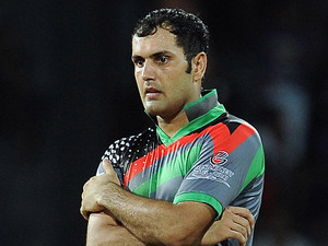 Afghan cricketer Mohammad Nabi during a Twenty20 match against England in Colombo, on September 21, 2012
