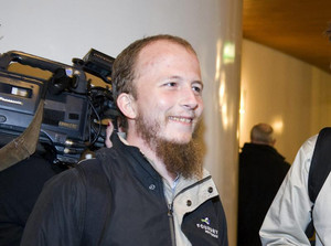 Gottfrid Svartholm Warg, the co-founder of Pirate bay, is pictured in Stockholm
