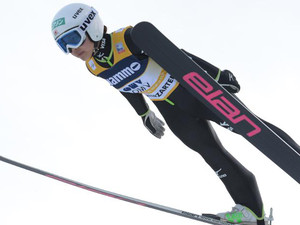 Japan's Sara Takanashi competes to win the FIS Ski Jumping World Cup Ladies competition on December 21, 2013 in Hinterzarten, southern Germany