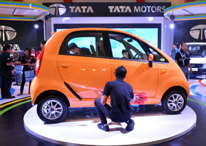 Low-cost Nano car, manufactured by Tata, pictured during an auto Show in Jakarta, on September 22, 2012