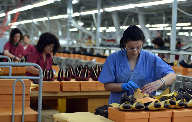 A factory of Italian shoes and luxury leather goods maker Tod's in Casete d'Ete in the Italian Marche region on May 28, 2013