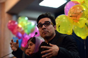 US-based artist Yazmany Arboleda pictured in Kabul, on February 18, 2013