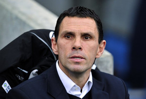 Brighton manager Gus Poyet pictured at their FA Cup fourth round match against Arsenal on January 26, 2013