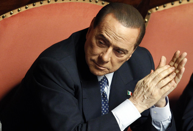 People of Freedom (PDL) party member and former Prime Minister Berlusconi attends the Upper house of the parliament in Rome
