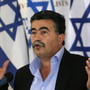 Israel's former defence minister Peretz speaks during a news conference in Tel Aviv
