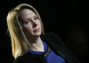Yahoo Inc Chief Executive Mayer attends the annual meeting of the World Economic Forum (WEF) in Davos