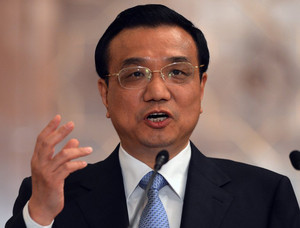 Chinese Premier Li Keqiang during a press conference in Islamabad, on May 22, 2013