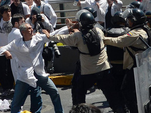 Doctors stage protest in Venezuela