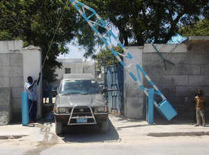 Archive photo shows a vehicle leaving the United Nations compound in Mogadishu 17 October 2007