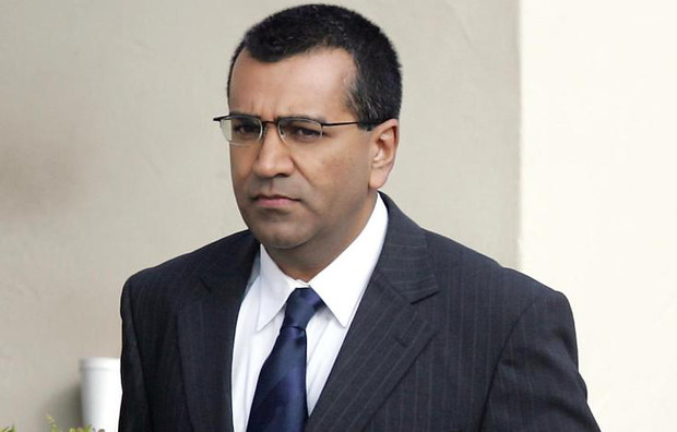 British journalist Martin Bashir arrives at the Santa Barbara County Superior Court in Santa Maria, California, on March 1, 2005