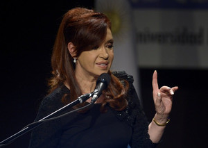 Argentine President Cristina Fernandez de Kirchner delivers a speech in Buenos Aires on May 16, 2013