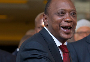 Uhuru Kenyatta at a hotel in London, on May 7, 2013