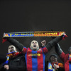 Fans of FC Barcelona react after UEFA Champions League, Group F football match against FC Dynamo Kiev in Kiev on December 9, 2009