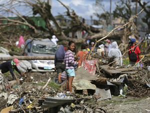 1 month on, progress in Philippine typhoon zone