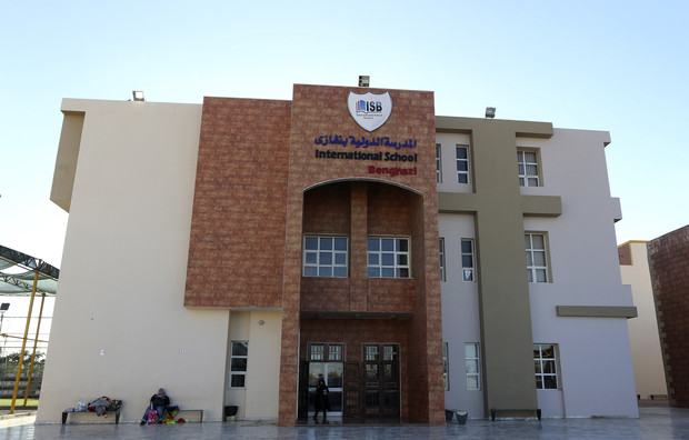 The International School Benghazi is pictured in Benghazi