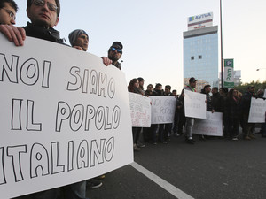 Grass-roots protests spread through Italy