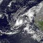 NASA handout photo shows Tropical Storm Humberto in the eastern Atlantic