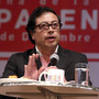 Gustavo Petro, Bogota's Mayor speaks during a forum in Bogota