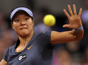 Li Na, seen in action during a WTA match in Stuttgart, Germany, on April 28, 2013