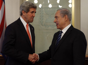 U.S. Secretary of State Kerry meets with Israeli PM Netanyahu in Jerusalem