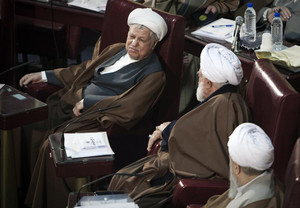 Iran's former President Akbar Hashemi Rafsanjani attends Iran's Assembly of Experts' biannual meeting in Tehran