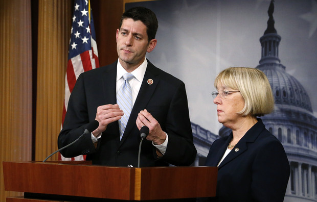 Murray and Ryan hold a news conference to introduce The Bipartisan Budget Act of 2013 at the U.S. Capitol in Washington