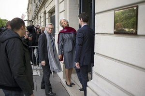 International Monetary Fund chief Christine Lagarde arrives at the Court of Justice in Paris, on May 24, 2013