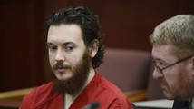 James Holmes and his defense attorney Daniel King sit in court for an advisement hearing at the Arapahoe County Justice Center in Centennial