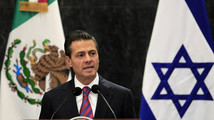 Mexico's President Enrique Pena Nieto gives a speech during a news conference in Mexico City
