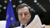 ECB President Draghi testifies before the European Parliament's Economic and Monetary Affairs Committee in Brussels